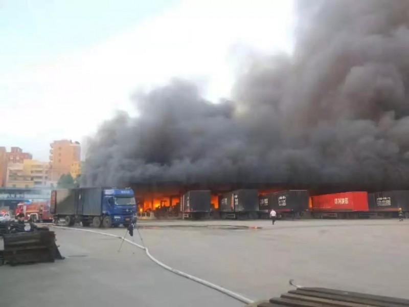 广州孟元物流今晨发生大火,损失惨重!再再再……提醒,火灾猛于虎!!