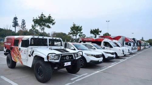 军工品质,强力保障,东风轻型车助阵军运会火炬传递